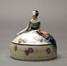 Large Noritake Figural Dresser Jar