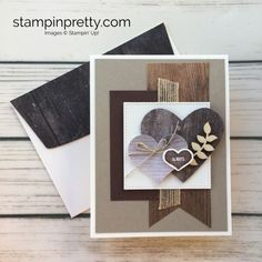 Rustic Charm for a Masculine Valentine's Day Card