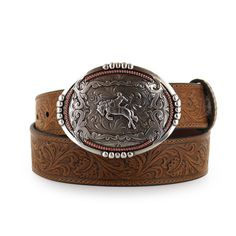 4032a38a9bdd8 Cody James® Men s Tooled Leather Belt and Buckle