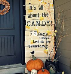 Great Halloween sign idea - but change to Pumpkin Chunkin!