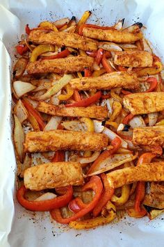 """Sheet Pan Mahi Mahi Fajitas 