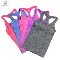 Nylon/spandex Ladies Active Tank top Quick Dry Ladies