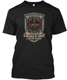 I Am A Child Of God A Man Of Faith Black T-Shirt Front