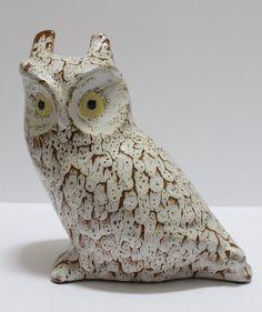Pigeon Forge Pottery Glazed Owl Signed D. Ferguson