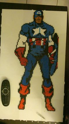 Captain America hama perler beads by starwars75