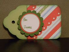Christmas tag: @April Hannah, I don't think you have the punch that was used for the actual tag part. You do have some others though.