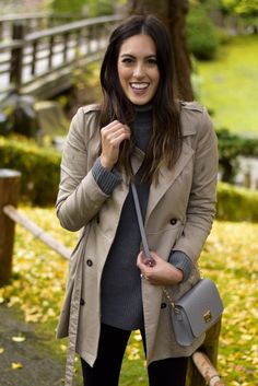 Style The Girl Grey Turtleneck Sweater Grey Turtleneck, Fashion Pics, Big Day, Trench, Personal Style, Turtle Neck, Celebrities, Coat, Sweaters