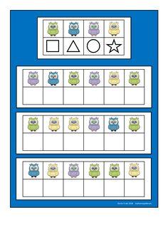 Board for the owl visual perception game. Find the belonging tiles on Autismespektrum on Pinterest. By Autismespektrum