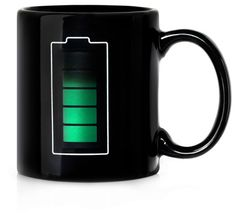 Mug tells you the drink's temperature.