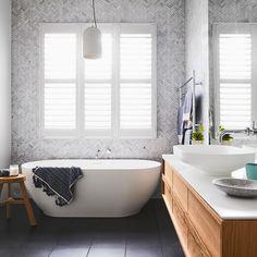 Best bath room vanity timber the block 25 ideas Bathroom Inspo, Bathroom Styling, Bathroom Inspiration, Bathroom Ideas, Design Bathroom, Design Inspiration, Bathroom Windows, Bathroom Renos, Spa Bathrooms