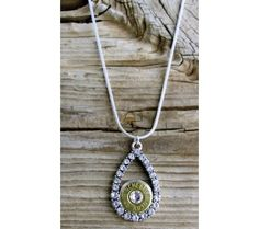 This crystal teardrop bullet necklace is the perfect balance of glimmer and style!
