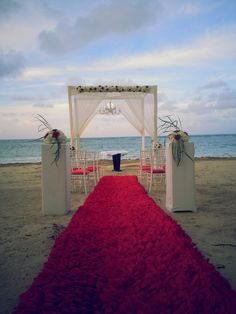 Beach wedding at Zoetry Agua, Punta Cana. www.Facebook.com/BlissfulMoons