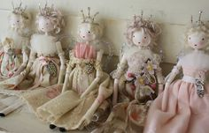 Would be lovely as a Christmas Angel. Betty & Violet ~ Message in a Teacup: Fairy dolls looking for good homes. Christmas Tree Fairy, Christmas Crafts, Christmas Poinsettia, Crochet Christmas, Christmas Angels, Middleton Dolls, Clothespin Dolls, Toddler Dolls, Paperclay
