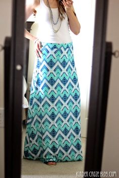 Stitch Fix #7 Double Giveaway, VEGAS Style. Love the color and design of this maxi skirt.