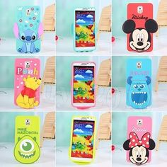 3D Disney Mickey Cartoon Silicone Case Cover For Samsung Galaxy S5 Note 3 Phone