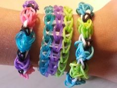 TRIPLE SINGLE RAINBOW LOOM TUTORIAL