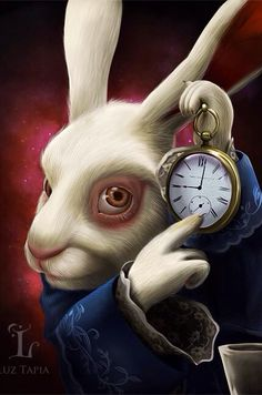 The White Rabbit Art Print by Luz Tapia Art