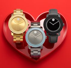 V-day gift: It's time for love! MOVADO BOLD #watch BUY NOW!