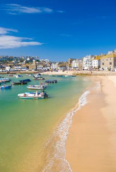 St. Ives, Cornwall, this is a beautiful little place, stunning scenery and quaint little houses. I love the view across the bay.