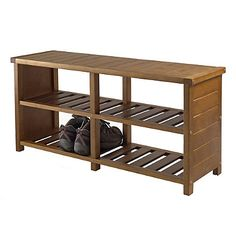 Shop Winsome Wood 33348 Keystone Shoe Bench Closet Accessory, Teak at Lowe's Canada. Find our selection of shoe storage at the lowest price guaranteed with price match. Entryway Bench Storage, Entryway Furniture, Furniture Legs, Storage Benches, Storage Ideas, Entry Bench, Bench Mudroom, Storage Organization, Organizing