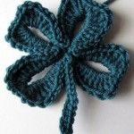 San Patrizio: schema quadrifoglio a crochet