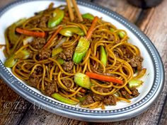 Ground Beef Lo Mein   bakeatmidnite.com   #lomein #pasta #asianfood #groundbeef