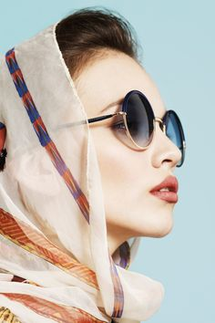 Nicki Sports Chic Eyewear for the Lens of Javier Lovera | Fashion Gone Rogue: The Latest in Editorials and Campaigns