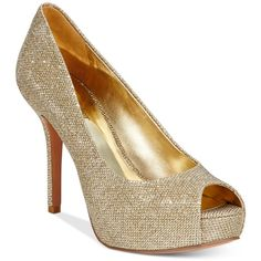 Sparkly Gold Platform Peep Toes   Charlotte russe shoes, Charlotte ...
