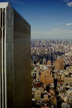 View from the former observation deck of the World Trade Center (South tower). Copyright: Tan Yilmaz