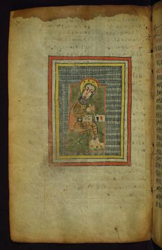 https://flic.kr/p/a4NGGv | Ethiopian Gospels, Portrait of Evangelist Luke, Walters Manuscript W.836, fol. 123v | This Gospel book was written in Tǝgray, Northern Ethiopia, in the early fourteenth century, and was once owned by the church of St. George in Däbrä Mä'ar. It is written by the scribe Mäṭre Krǝstos in the official liturgical language of Ethiopia, Gǝ'ǝz. Most notable is its prefatory image cycle, which makes references to holy places in Jerusalem, such as Golgotha and the Holy…