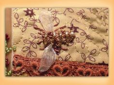 I ❤ ribbon embroidery . . . How to embroider a silk ribbon bee. www.craftyattic.com shows you how to embroider this beautiful silk ribbon bee. (I admit this doesn't look like any bee I would see in my backyard). But is is neat.