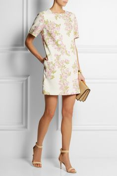 Giambattista Valli|Floral-print stretch-crepe mini dress|NET-A-PORTER.COM