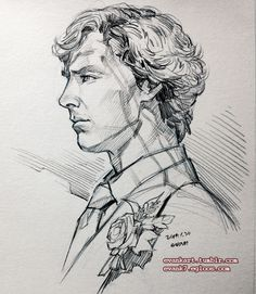 2331 'wedding day…' by evankart jan malen Sherlock Holmes Bbc, Sherlock Holmes Benedict Cumberbatch, Pencil Drawing Images, Drawing Sketches, Sherlock Drawing, Figure Drawing Reference, Art Sketchbook, Easy Drawings, Detective