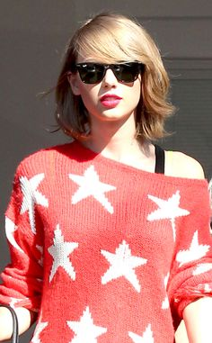 I hate myself for saying this but, I like Taylor Swift's short hair