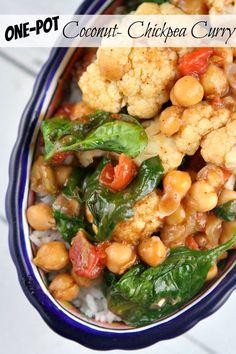 One Pot Coconut Chickpea Curry #recipe - RecipeGirl.com