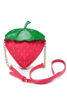 Cute Red Beaded Single-shoulder Strawberry Bag