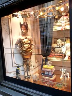 Love the Rita co Rita gold lame kids dress in a starring role in Liberty's Holiday Xmas windows display