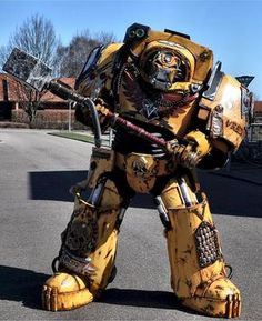 warhammer cosplay  I've seen Space Marine costumes before but never full on 3m tall Terminator armour.
