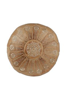 handsome leather pouf Moroccan-styled