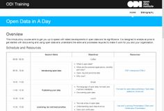 Open data in a day training