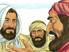 Free Bible images: Free Bible illustrations at Free Bible images of Jesus appearing to two disciples as they travel on the road to Emmaus, then His appearance to the disciples in a locked room. (Luke 24:13-49)