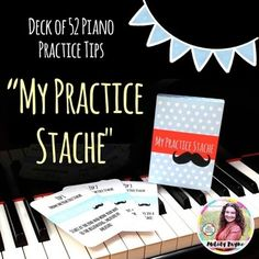 Need a fun way to spice up your students' practice sessions? Give them this deck of 52 practice cards and their practice will be revolutionized! **This product is included in the Beginning Piano MEGA BUNDLE for Elementary Students, Groups, Camps, and More!This deck of 52 practice tips includes ideas such as improvising, repetition, technique, performing, listening, and more!