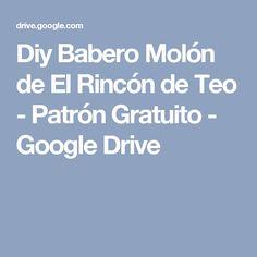 Diy Babero Molón de El Rincón de Teo - Patrón Gratuito - Google Drive