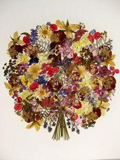 beautiful dried flower art....