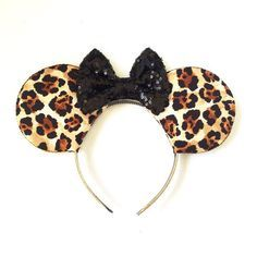 Leopard Print Mickey Ears, Animal Kingdom Disney Inspired Ears, Animal Kingdom…