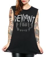 Social Decay - Womens Deviant Fang Tank  #goth #gothic #punk #punkrock #rockabilly #psychobilly #pinup #inked #alternative #alternativefashion #fashion #altstyle #altfashion #clothing #clothes #vintage #noir #infectiousthreads #horrorpunk #horror #steampunk #zombies #infectiousthreads