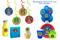 Rescue Bots Party Pack, Rescue Bots Happy Birthday Signs, Rescue Bots Party Cupcake Toppers Printables on Etsy, $9.99