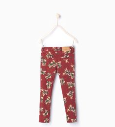 Image 4 of Floral trousers from Zara