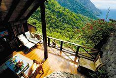 이 전망을 보고도 이곳을 좋아하지 않을 수 있겠는가가 라데라 리조트, 여행자 평점 5점 만점에 4.5 받을만 하네! Ladera Resort on St. Lucia, West Indies - The Life of Luxury