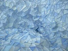 Paper Iceberg Installation by Gabby O'Connor